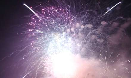 Crowds Flock To Stockton's Riverside For Fireworks Spectacular