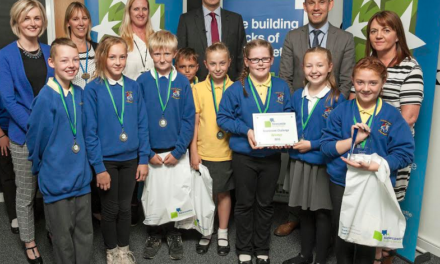 Shiremoor School Children take Top spot in Newcastle Building Society Boardroom Charity Challenge
