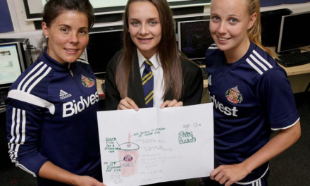 Sunderland Student gets the Cup for SAFC Ladies