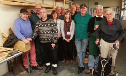 Men in a Workshop Combat Loneliness in Northumberland