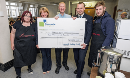 Newcastle Building Society Supports Tyneside Homeless Charity