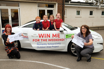 Romanby School outdoor project supported by two local businesses