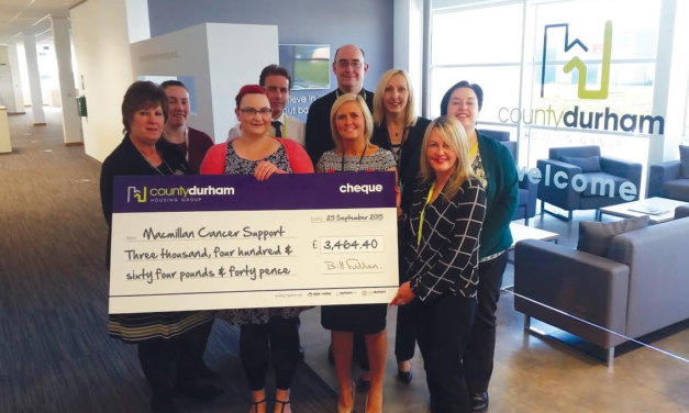 With more than £3,000 raised, housing group raises a mug to charity