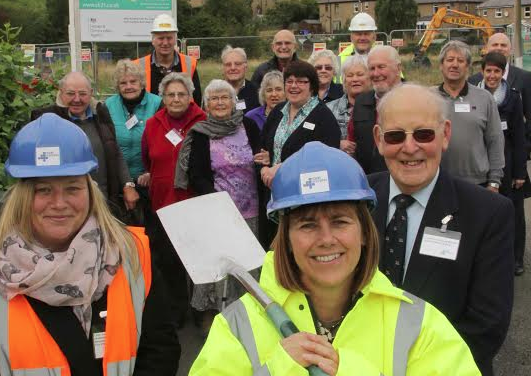 Construction works underway on New Affordable Homes in Wooler