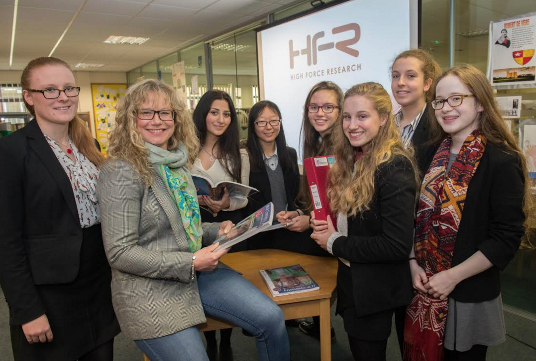 Women chemists from High Force Research return to school to inspire the next generation of scientists