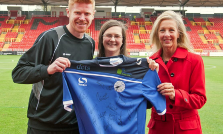 Suzanne back on the Gateshead pitch as former Mascot turns competition winner