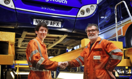 Bus fitter hangs up his tools after 48 years