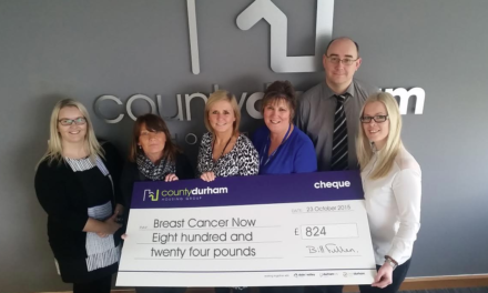 Housing group raises more than £800 for cancer charity