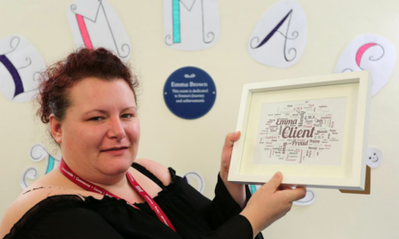 Refuge names room after courageous ex-client