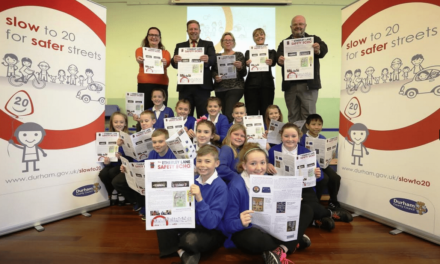 School newspaper promotes road safety