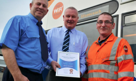 The only way is healthy as bus employees are recognised with an international award