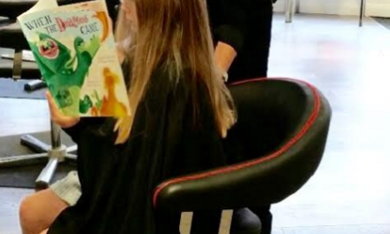 Hairdresser encourages Kids to Read Books as they get a New Look