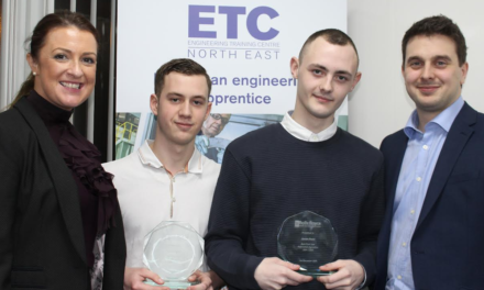 James and Joe rewarded for apprenticeship excellence