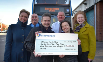 Stagecoach Santas collect a whopping £9,100 for Charity