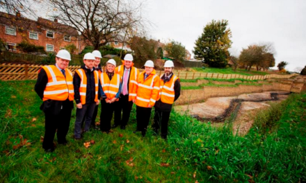 Witton Gilbert flood protection scheme completed