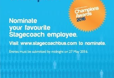 Bus Passengers invited to say Thanks and Nominate their Customer Service Champions