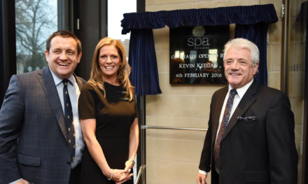 King Kev officially opens the Spa at Ramside