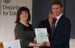 North-east teenager receives award from Education Secretary