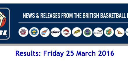 BBL – Results: Friday 25 March 2016