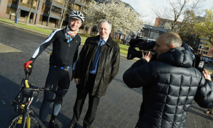 Voice of ITV Cycling takes on Captain Cook Stage