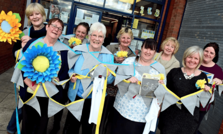 Local Communities Painting the Town Blue and Yellow