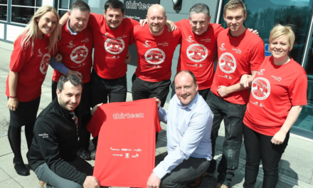 Red and White 5K Shirt in Tribute to Boro Legend Ali
