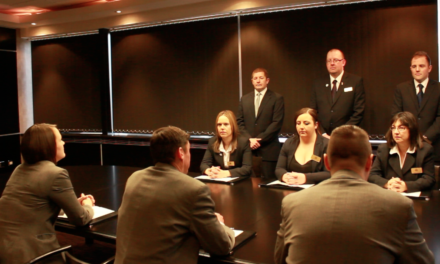 Staff face the boardroom in a 'The Apprentice'-style challenge