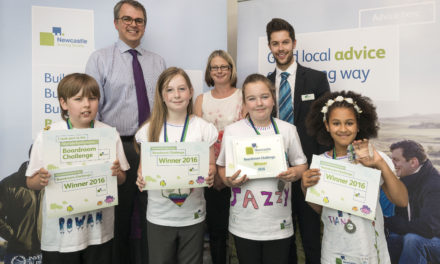Gateshead school children come top of the class in Newcastle building society boardroom charity challenge