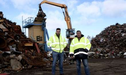 North East recycling specialist's first bulk export of scrap steel to Europe