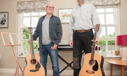 Northumberland woodworker hits the right note with curvy guitar stands