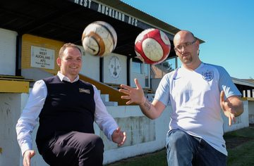 """""""I love charity me!"""" as Franks collaborates for football match in aid of Macmillan"""