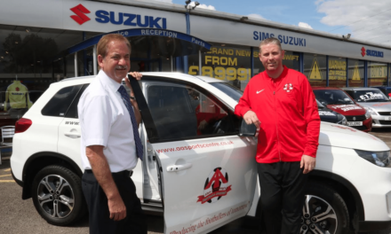Young footballers get new drive thanks to motor dealer sponsorship deal
