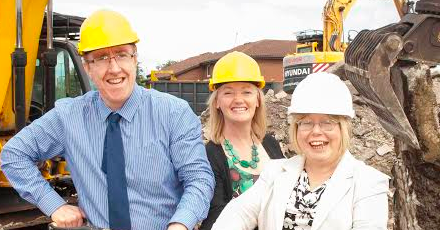 Work starts on vital affordable homes for Teams