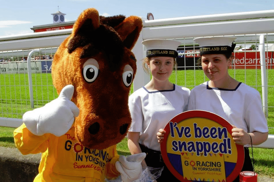 Redcar Racecourse shows support for local heroes