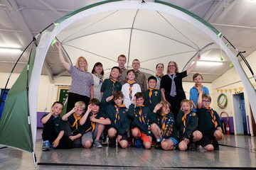 Building society pitches in for scout group