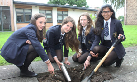 Students bury time capsule for national golden jubilee
