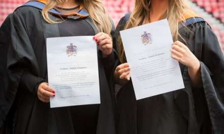 Double delight for inseparable twins who graduate with identical honours