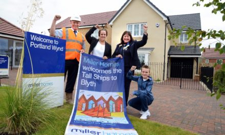 North East Youngster Helps Leading Housebuilder Welcome Tall Ships Regatta