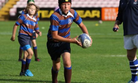 Youngsters get taste of arena rugby