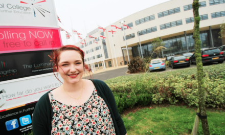 Artist Sophie comes back from the brink to take on new role at Hartlepool College