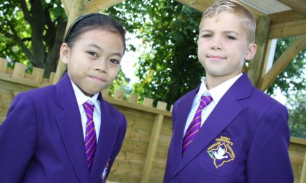 Proud pupils show off new attire
