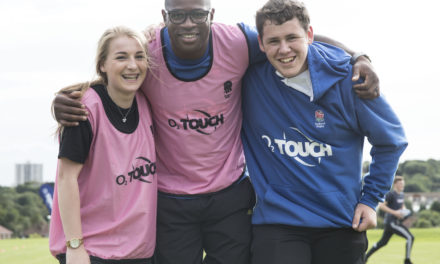 International Rugby Stars Drop by to Inspire Students