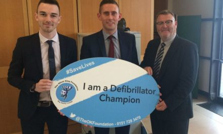 MP supports 'lifesaving' defibrillators campaign