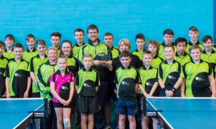 Hat Trick of Awards for Bishop Auckland Table Tennis Club