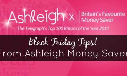 Top Tips for Black Friday from Money Saving Mum Ashleigh Swan