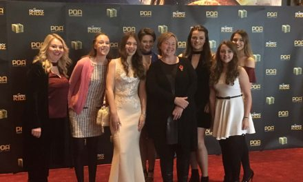 Budding actress rubs shoulders with celebrities at red carpet awards ceremony