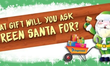 Santa wants to bring a green gift to the community