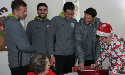 Premier League players swap football for bingo balls at Teesside care home