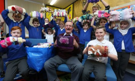 Primary School Pupils get Knitting for Dementia Project