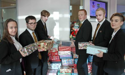 Business students organise Christmas shoebox project